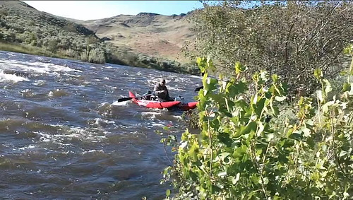Jeff floating the Powder River