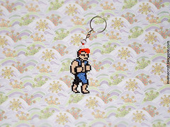 Chaveiro Billy Lee - Double Dragon (inversecraft) Tags: keychain crossstitch nes chaveiro doubledragon pontocruz