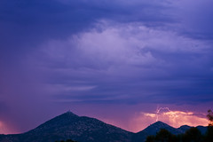 Sunrise Thunderstorms (bruinshorty) Tags: california sunrise sandiego lightning thunderstorms ranchobernardo mountwoodson 93010