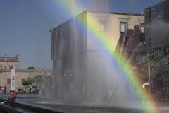 Rainbow (Gerardography) Tags: city colors arcoiris canon mexico 50mm rainbow centro guadalajara ombre f18 18 fontaine cabañas 500d institutocabañas t1i