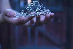 You Can Be the Prince and I Can Be Your Princess (Sarah Ching) Tags: tiara macro cup metal stone fence silver palms outdoors blurry hands focus shiny heart princess you bokeh fingers prince blurred can queen nails be crown jewels rhine bandaid hold grasp quen trisarahhtops
