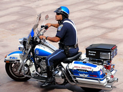 Special Operations (brooksbos) Tags: city blue summer portrait people urban sun bike boston geotagged ma photography photo massachusetts sony newengland police sunny cybershot chips motorcycle bostonma copley sonycybershot bostonist bay lurvely square special back 02116 thatsboston copley operations dschx5v hx5v brooksbos