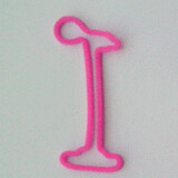 Shaped rubber bands: bone pink