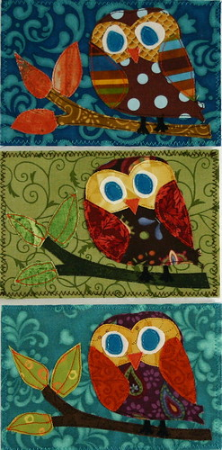 Fabric Postcard Fall Exchange