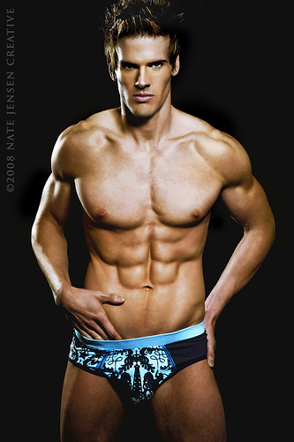hot hunk shirtless sexy macho underwear model