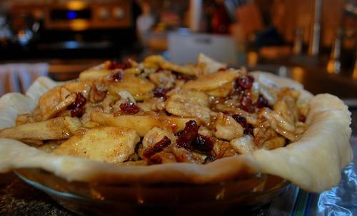 Apples, cranberries, walnuts