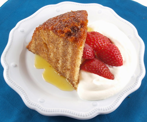 Steamed Spiced Golden Syrup Pudding