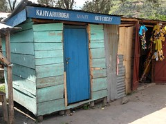 Smart Butchery (cowyeow) Tags: poverty africa travel blue strange smart shop rural weird funny african poor shed butcher ugly shack uganda butchery uglybuilding kasese funnyafrica kilembe kilembevalley