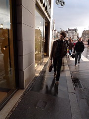 . (Marie Nolle Taine) Tags: street city light people urban france town europe lyon rainy backlighting