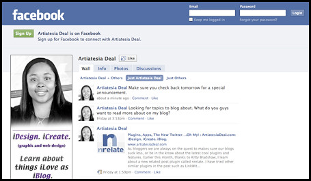ArtDeal Facebook Fan Page