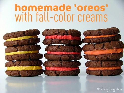 Homemade 'Oreos' With Fall-Color Creams
