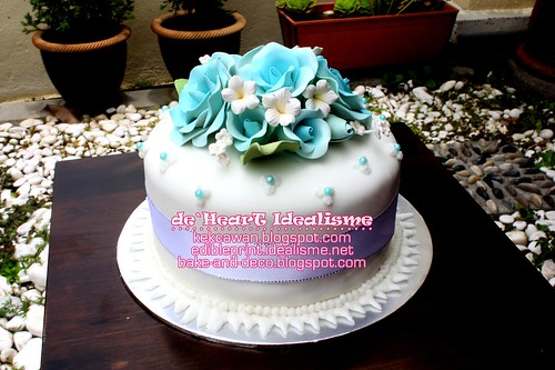 Batch 3 Oct: Basic Simple Wedding Fondant Cake