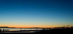Once in a blue moon... (diyosa) Tags: longexposure blue sunset orange beach landscape quote f16 alameda veryrareforme pardonthesensordust