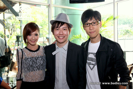 stella chung, xavier & gan jiang han(astro tv presenter)