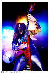 Destroyer 666 (Ronan THENADEY) Tags: black metal trash canon concert guitar live flash australian band guitarist rennes bcrich shrapnel blackmetal ubu speedlite trashmetal 1635mm f28l destroyer666 580exii ronanthenadey 5dmarkii