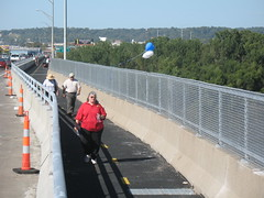 Heart of America bike/ped path in Kansas City, another project partially funded by Transportation Enhancements