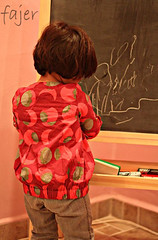 . . . . . . . . . . . . .      (Fajer Alajmi) Tags: red baby girl painting kid paint drawing draw
