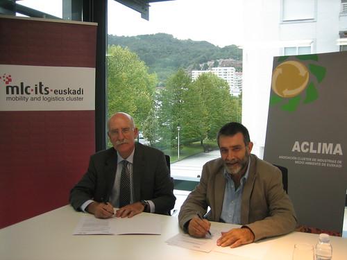 Firma convenio de colaboración entre el Clúster de Movilidad y Logística y ACLIMA