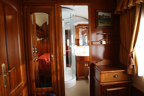 El Transcantabrico - compartment with ensuite bathroom