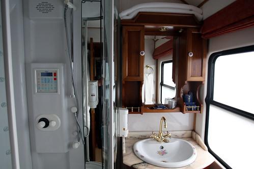 El Transcantabrico - Ensuite bathroom with shower, Badezimmer mit Dusche