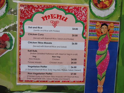 Green Taste Truck menu