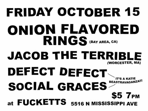 10/15/10 Onion Flavored Rings, Jacob the Terrivle, Defect Defect, Social Graces