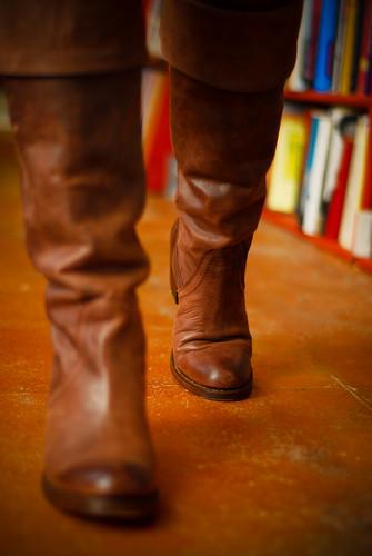 brown leather female women cowboy boots womens frye kneehigh fryeboots