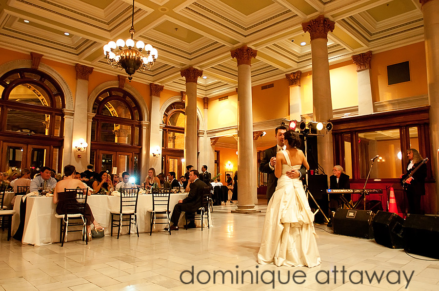 newly wed dancing in main street station in richmond