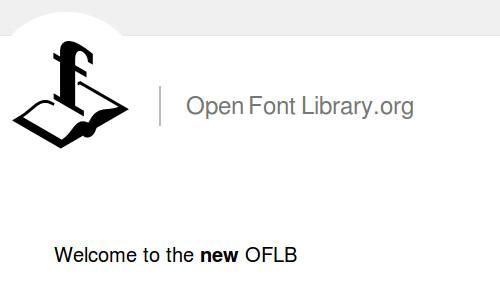 Figura 8 - La pagina web di Open Font Library.