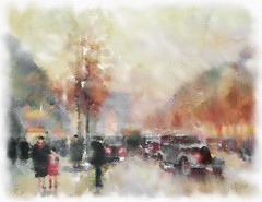 Champs-Elyses (piker77) Tags: painterly paris france art architecture digital photoshop watercolor painting interesting media natural aquarelle digitale manipulation simulation peinture illusion virtual watercolour transparent acuarela tablet technique wacom stylized pintura imitation  aquarela aquarell emulation malerei pittura virtuale virtuel naturalmedia urbanpics    piker77wc arthystorybrush