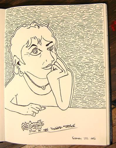old school sketchbook - mom