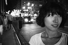 a fresh new start (Solar ikon) Tags: street portrait bw monochrome night xian dailylife lx5