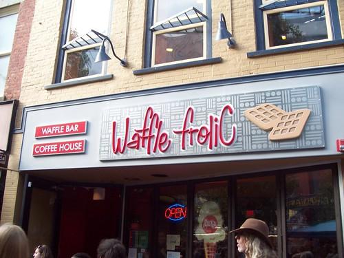 A waffle bar. OMG!