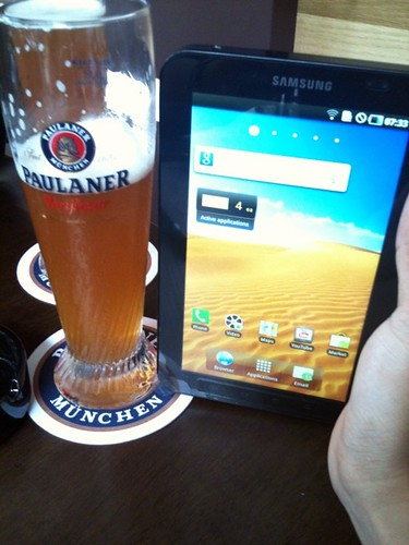 paulaner and samsung tab