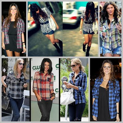 camisas xadrez para mulheres