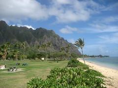 Kualoa Beach Park (Jake T) Tags: family vacation beach hawaii oahu 2010 kualoa kualoabeach october2010