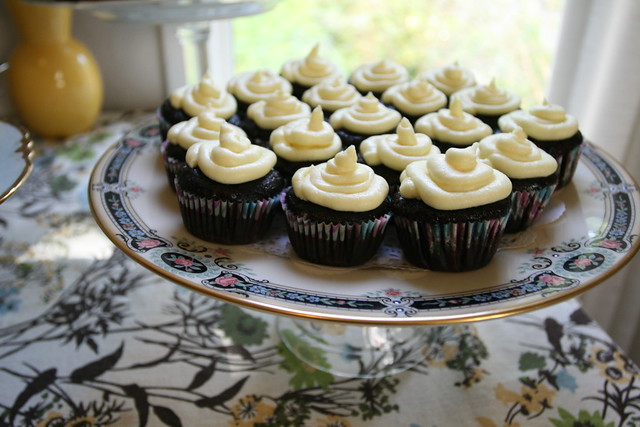 banana chocolate with buttercream frosting