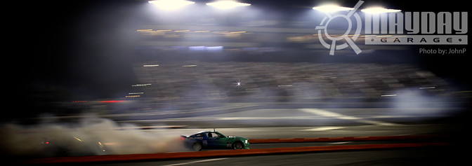 Justin Pawlak driving the Falken Stang like a bat out of hell.