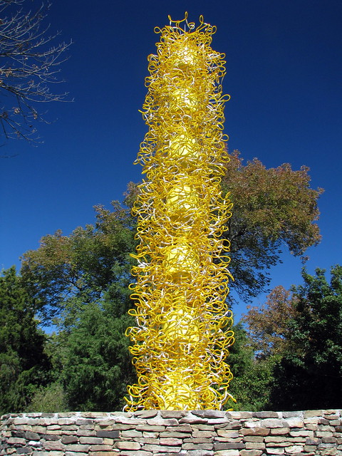 Chihuly at Cheekwood 1: Saffron Tower
