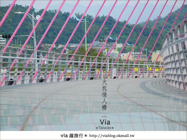 【大坑情人橋】新的台中約會景點~浪漫粉紅色情人橋13