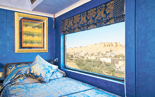 Panoramic windows of the cabin offer fascinating view of the landscape