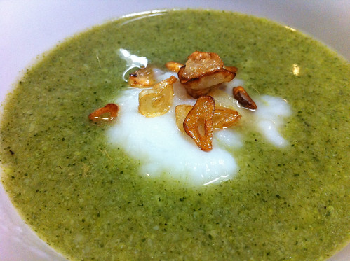 Broccoli Soup with Turnip Puree