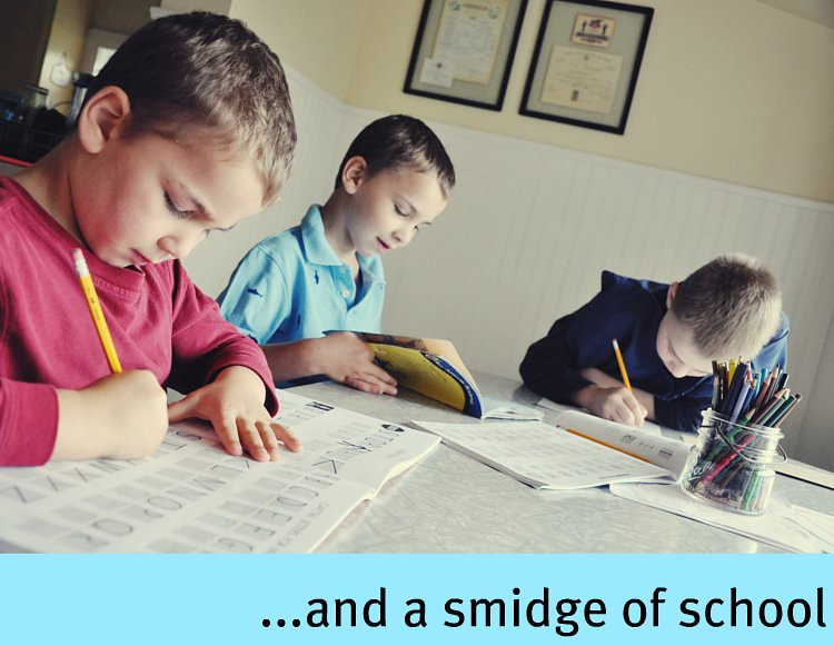 a smidge of school