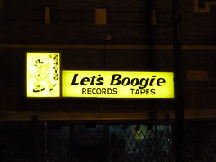 Let's Boogie! (Mark 2400) Tags: street chicago records sign lets boogie bridgeport tapes halsted