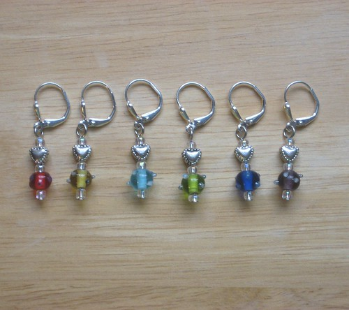 stitch markers - Heart Bumpies