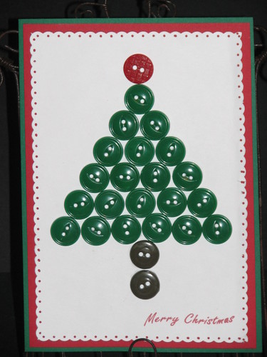 25 Days of Gifts & Ornaments - Bonus Button Tree Card 003