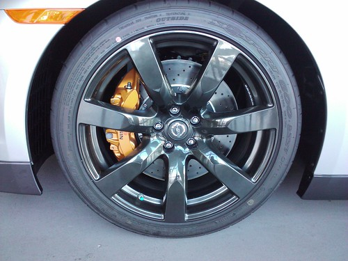 nissan r35 gtr gt-r skyline wheel rim black