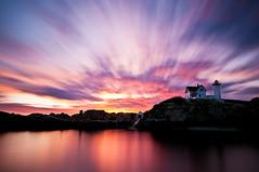 Color (moe chen) Tags: ocean york light lighthouse clouds sunrise dawn bravo long exposure maine vivid sigma moe cape 1020mm chen neddick nubble bw110