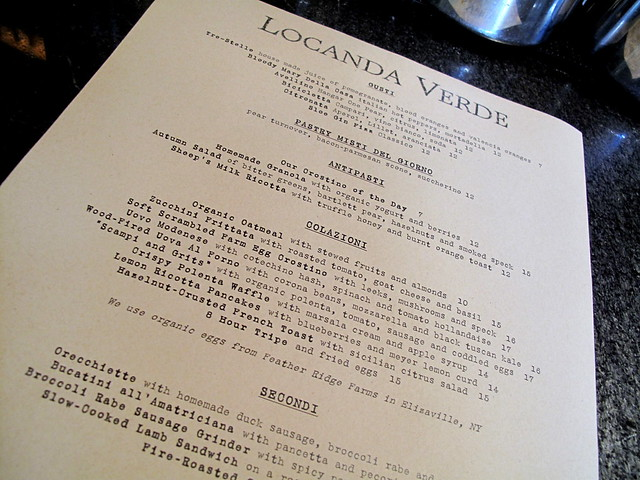 Brunch at Locanda Verde - NYC