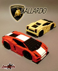 Lamborghini Gallardo 2G (ZetoVince) Tags: red car yellow greek lego vince racing vehicle lamborghini stubby gallardo blackrims stubbies zeto 10wide pullbackmotor zetovince dreamdealer